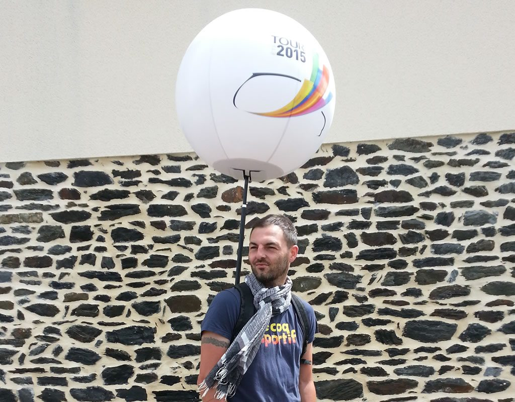 Ballon street marketing pour le Tour de France