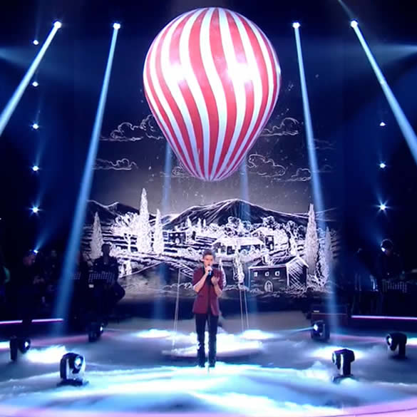 Ballon hélium sur le plateau de The Voice Kids