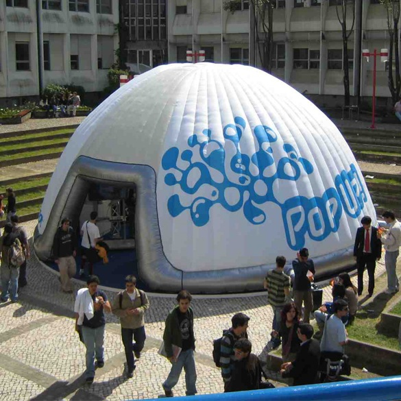 Un igloo gonflable pour Microsoft